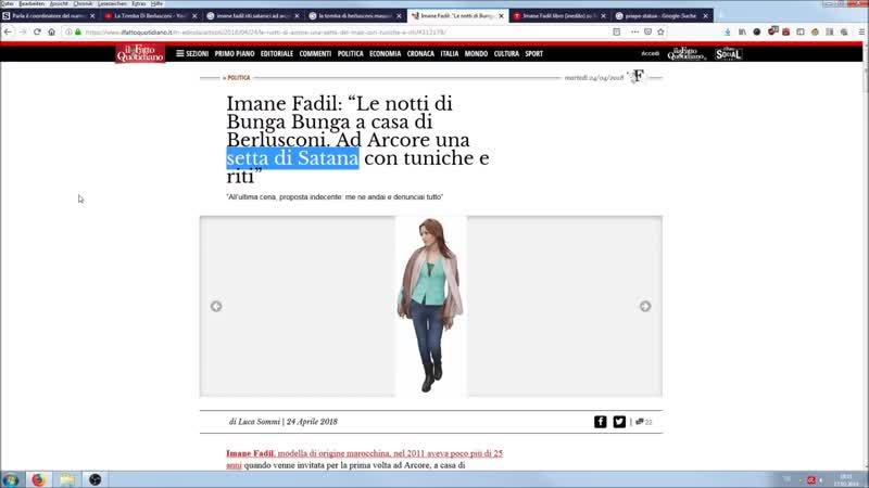 Berlusconis Satanismus Bunga-Bunga ist jetzt offiziell Pizzagate!!Imane Fadils Buch.