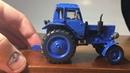 МТЗ 80 модель трактора со светом в масштабе 143