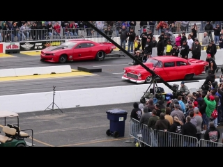 Fireball Camaro vs The 55 at Route 66 No Prep Kings