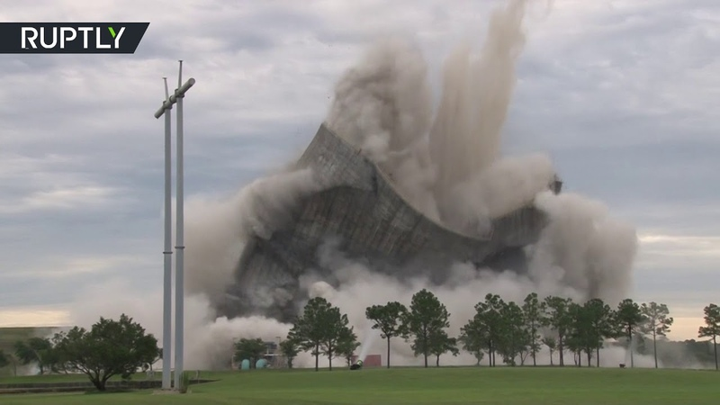 1,500lbs of dynamite EXPLODE Jacksonville cooling towers in 12 sec