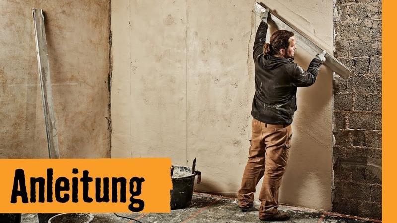 Wohnraum verputzen | HORNBACH Meisterschmiede