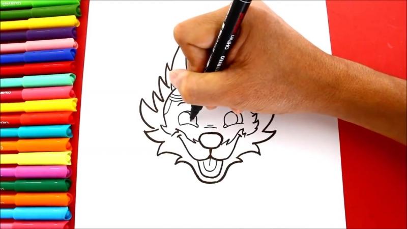 Cómo dibujar a ZABIVAKA (La Mascota del Mundial Rusia 2018) _ FIFA World Cup Russia 2018