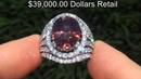 GIA CERT 15 09 ct Natural VVS1 Pink Zircon Diamond 18k White Gold Vintage Ring A133119