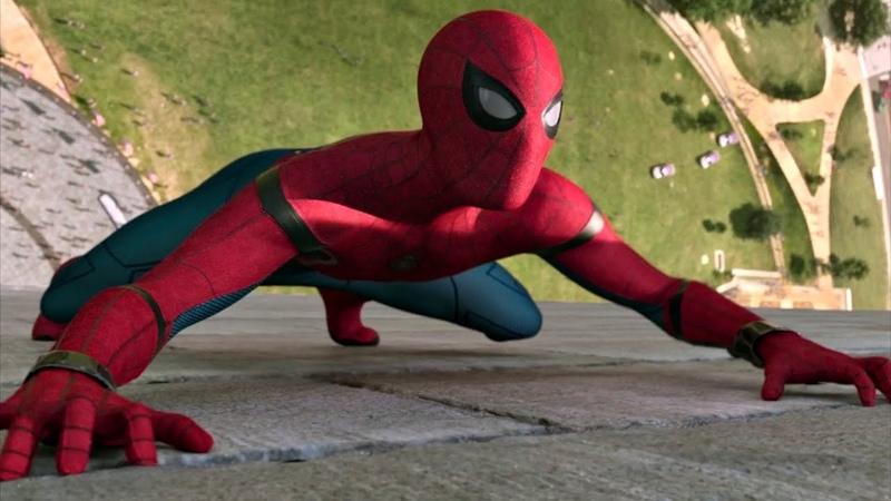 Человек паук спасает друзей из лифта Монумента Вашингтона Человек паук Возвращение домой 2017