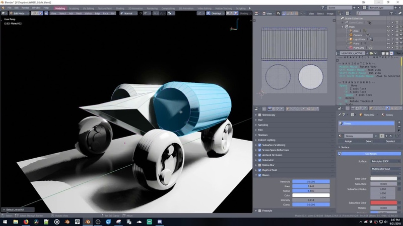 Heavypoly Live Stream | Blender 2.8 Modelling in EEVEE Viewport