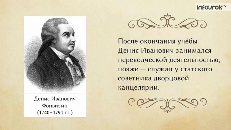 Денис Фонвизин. Комедия «Недоросль»