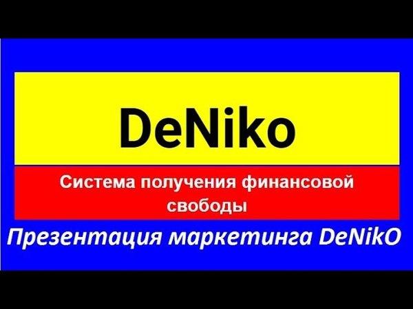 Презентация маркетинга DeNikO cпикер Надежда Асабина