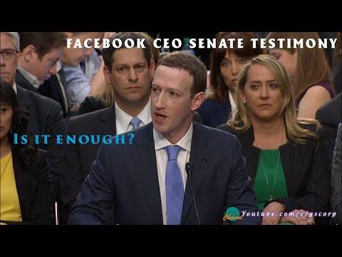 CEO Facebook Điều trần tại Nghị viện Mỹ Phần 1 - Thế nào là đủ