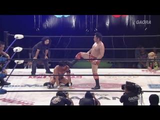 YAMATO, BxB Hulk (c) vs. Ryo Saito, Don Fujii (Dragon Gate - The Gate of Origin 2018)