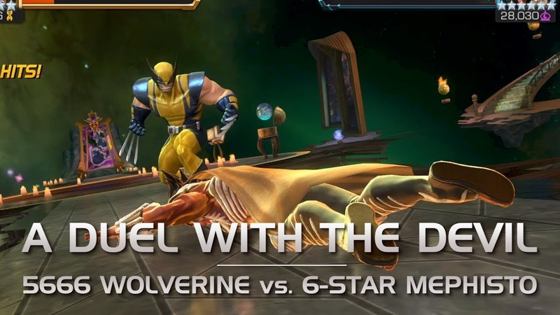 A Duel with the Devil 5666 Wolverine vs 6* Mephisto Boss Rush Battle Marvel Contest of Champions