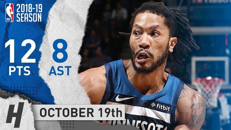 Derrick Rose Full Highlights Wolves vs Cavaliers 2018 10 19 12 Points 8 Ast