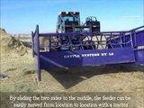 Purple Cattle Feeder