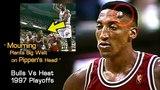 Alonzo Mourning's Elbow Raises Enourmous Lump On Scottie Pippen's Forehead! (1997 Playoffs)
