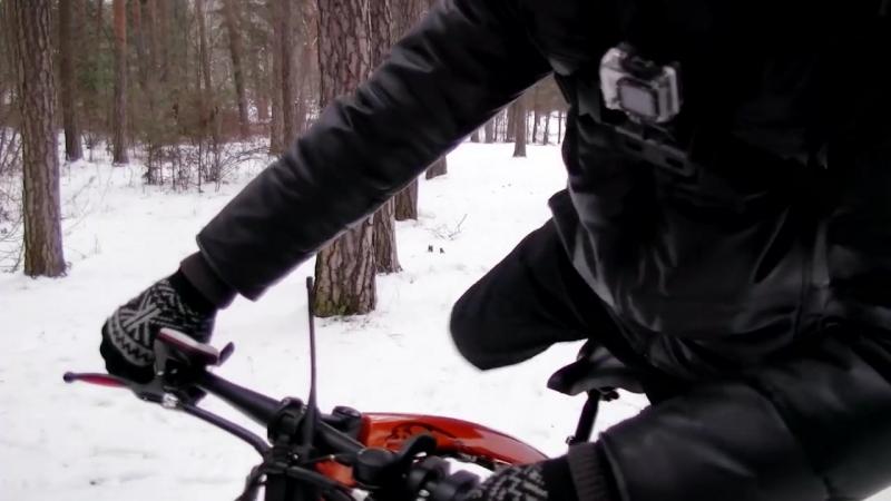 Электро фэтбайк полный привод по снегу и льду
