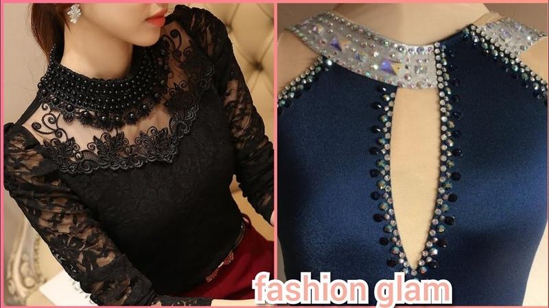 Gorgeous and elegant blouse top neck design/choker neck styles