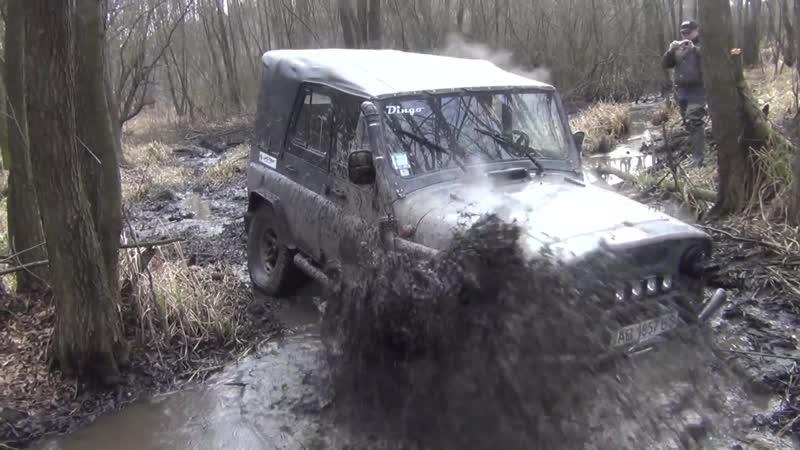 Off-road - 147 Эстакада не получилась, помешала траншея (ГАЗ-69, УАЗ-469)