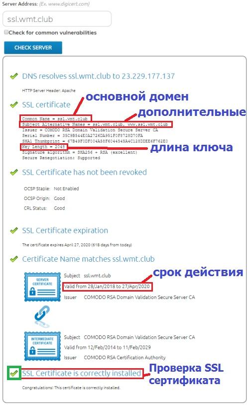 проверить ssl сертификат