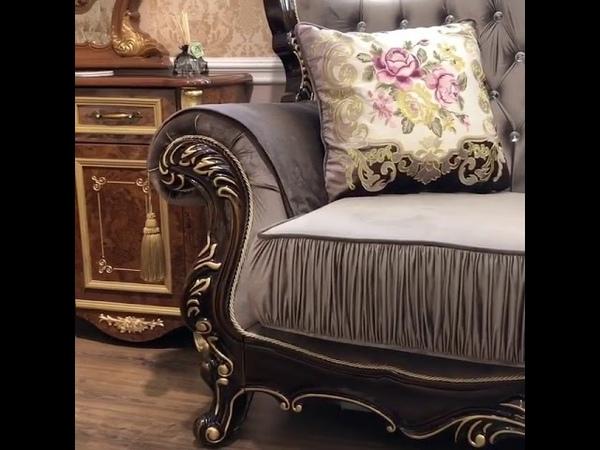 Набор мягкой мебели Мона Лиза Esm Орех Цвет и форма подушек условно