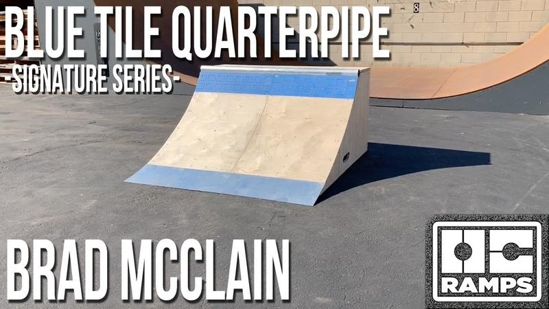 Blue Tile Quarterpipe - Brad McClains Signature Series by OC Ramps