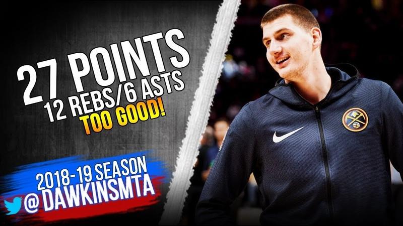 Nikola Jokic Full Highlights 2018.12.10 Nuggets vs Grizzlies - 27 Pts, 12 Rebs, 6 Asts! FreeDawkins