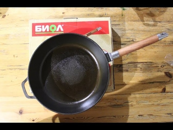Новая чугунная сковорода Биол 26см. Отзыв после 2 недель использования. Приготовление блинчиков.