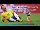 FIFA World Cup 2018 | Brazil star Neymar Jr spent 14 minutes on the ground for acting on fouls