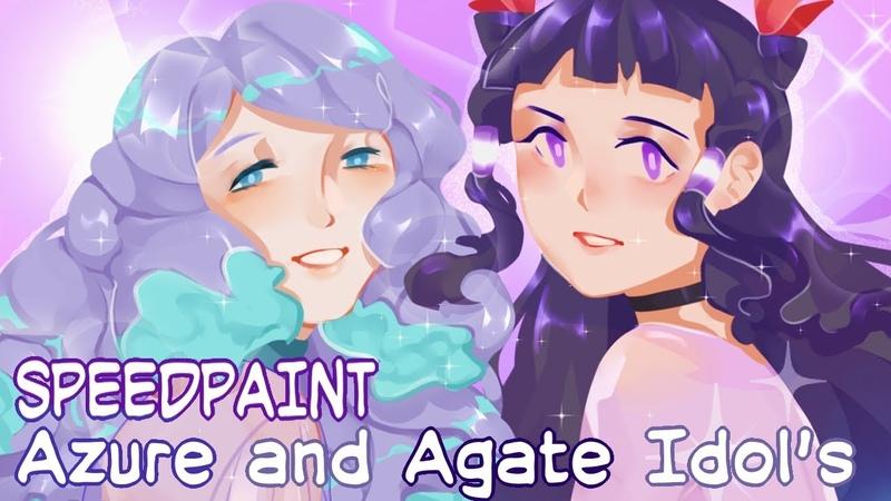 SPEEDPAINT - Azure and Agate Idols (Paint Tool SAI)