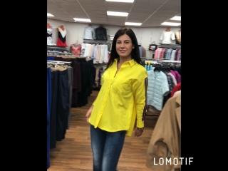 Жёлтая блузка с лампасами