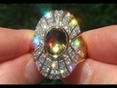 GIA Certified Natural Color Change FLASH Demantoid Garnet Diamond 18k Gold Ring - C813