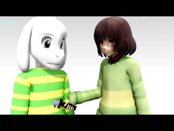 Undertale animation ^12^ Гастер потерянный брат Слендера? [MMD]