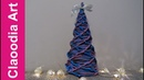 Choinka W KRATKĘ z papierowej wikliny (Christmas tree, wicker paper)