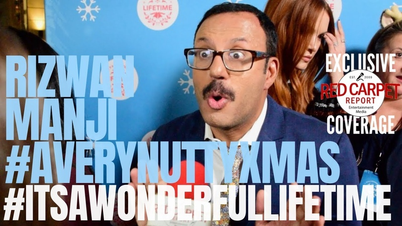 Rizwan Manji AVeryNuttyXmas interview ItsAWonderfulLifetime Christmas Movie Kickoff LifeTimeTV