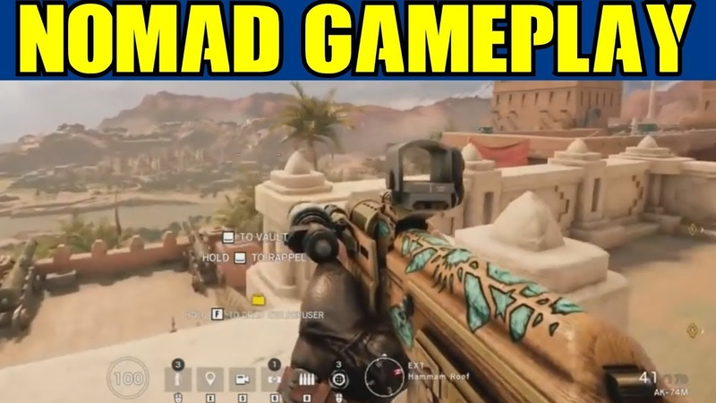 Rainbow Six Siege Leaked Nomad Gameplay Airjab Launcher Gadget Full Loadout R6 Wind Bastion