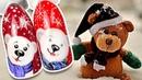 🐻 Милый Медвежонок Зимний Дизайн Ногтей Гель-лаком Новогодний Маникюр Рисунок для Ногтей Cosmoprofi