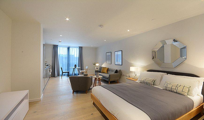 Квартира-студия 37 м в Лондоне.