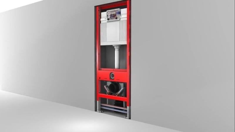 Установка подвесного унитаза TECEone на систему инсталляции TECE