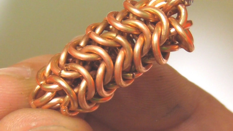 HOW TO DO ROUNDMAILLE CHAINMAILLE WEAVE