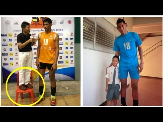 224 cm tall volleyball player wuttichai suksara (hd)