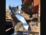 Кот -скульптура из металла - Моя дача