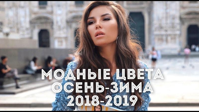 Самые МОДНЫЕ ЦВЕТА ОСЕНЬ ЗИМА 2018 2019 ТРЕНДЫ Пантон