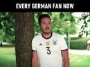 Фанаты сборной Германии после вылета с ЧМ по футболу