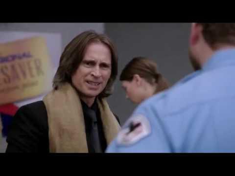 Эмма Генри и Мистер Голд в аэропорту 2x13