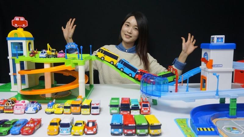 타요 트랙세트 주차장 세트 꼬마버스타요 폴리 헬로카봇 뽀로로 도로놀이 자동차 장난감 Tayo the little bus Toy