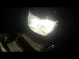 Сравнение светодиода Н4 и лампы накаливания Н4 в фаре suzuki rf