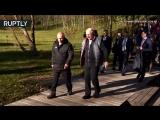 Лукашенко отвёз Путина на малую родину