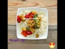 Курица с овощами и кешью.