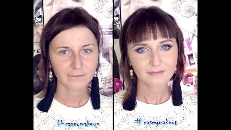 Ксения Саватеева. До и после вечернего макияжа