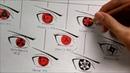 Drawing All Mangekyou Sharingan Forms Evolution Of Sharingan Kakashi Art