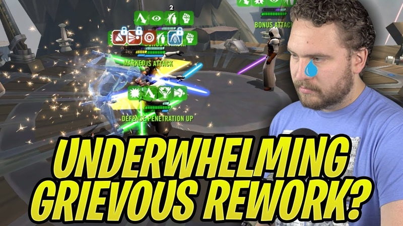 Grievous Separatist Rework Super Underwhelming? 3 Star Droideka Testing! | Galaxy of Heroes