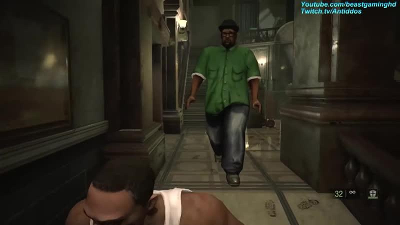 Resident Evil 2 Remake GTA CJ Meets Big Smoke MOD